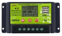 10A 10 amp PWM LCD USB SOLAR CHARGE CONTROLLER MOTORHOME CAMPER t4 t5 bongo