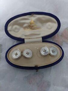 Antique / Vintage Cufflinks In Vintage Jewellery Box