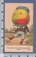 C189 Tabernacle Brand Tomato trade card dancing apple Haskell & Adams Boston, MA