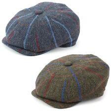 Flat Cap Hat Wool Tweed PEAKY BLINDERS GATSBY NEWSBOY 8 PANEL Driving Hawkins