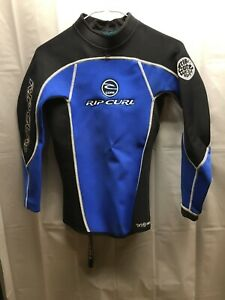 Rip Curl Wet Suit Top Unisex Size Small Black Blue Excellent Condition!!