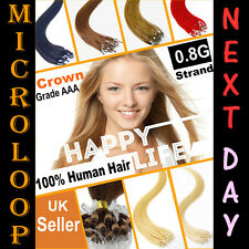 40s-0.8g- Micro Ring Easy Loop Beads Hair Extensions-Remy Human Hair-Grade AAA