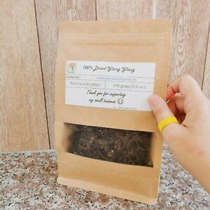 100 g_Organic Dried Ylang Ylang_Cananga odorata_Flower tea_Herbal Loose Herb