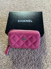 AUTHENTIC CHANEL Pink Classic Zipped Coin Purse