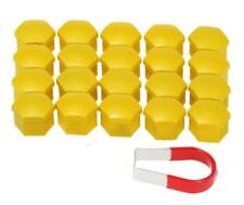 17mm YELLOW Wheel Nut Covers with removal tool AUDI