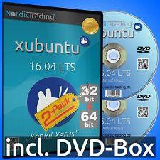 Xubuntu 16.04 LTS 2-Pack 32+64bit DVDs Linux Betriebssystem Markenware