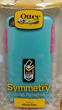 OtterBox SYMMETRY SERIES Case for iPhone 6/6s TEAL ROSE (BLAZE PINK/LIGHT TEAL)