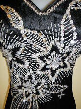 SALE! Plus Size 20 (D9-BK) New Dinner Dress Long Dress Party Gown with Sequins