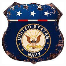BP-0009 US NAVY Shield Chic Sign Bar Store Shop Home Decor Gift
