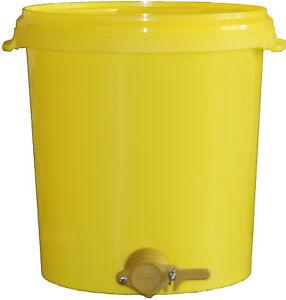 Abfülleimer 40 kg , Honigeimer, Quetschhahn, Honig abfüllen, Hobbock, Honigernte