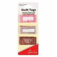 Sew Easy Quilt Tags - Handmade To personalise your quilt