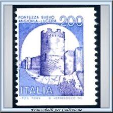 1981 Repubblica Castelli Bobina L. 200 n. 1530A Varietà