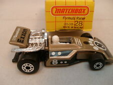 1975 MATCHBOX LESNEY SUPERFAST #28 FORMULA RACER MIB