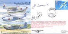 EJA5 Saunders Roe SRA/1 RAF cover signed DFC test pilot LANCASTER DFC