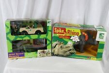 Animal Planet Wild Quest Rescue Jeep Patrol Playset Spike The Rhino Animaltronic