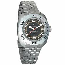 Vostok Amphibian 710394 Military Diver Mechanical Watch Black