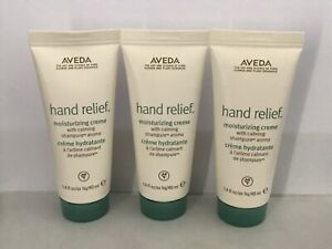 Aveda Hand Relief Creme Lotion Lot of 3 Shampure Scent 1.4 oz