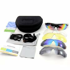 VINQLIQ Polarized Unisex Sports Cycling Sunglasses with 5 Interchangeable Lenses