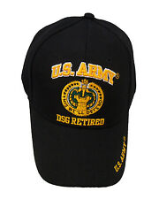 Licensed US Army Drill Sergeant DSG Retired Cap 508-BLK