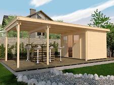 Weka Gartenhaus Loungehaus 225 B Gr.2 21 mm Blockbohlenstärke 299+450x299 cm