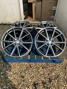 """19"""" RS4 Style Alloy Wheels Only Satin Grey/Diamond Cut to fit Audi A4 (B8 & B9)"""