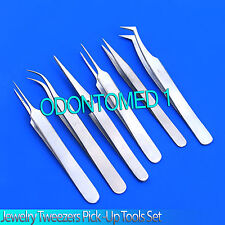 Stainless Steel watchmaker Repair Anti-static Jewelry Tweezers Pick-UP Tools Set