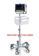 Rolling Roll Stand for Midmark Cardell Touch veterinary monitor new (big wheel)