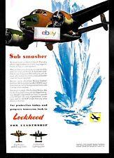 LOCKHEED AIRCRAFT CORP 1943 SUB SMASHER WW-2 HUSON RAF COASTAL COMMAND BOMBER AD