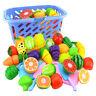 6xRollenspiel Küche Obst Gemüse Essen Schneiden-Spielzeug Set Geschenk Modi li