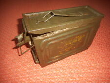 U.S.ARMY:30 cal WWII AMMO CAN WITH LATCH ON SIDE FOR MG MILITARIA