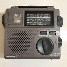 Grundig FR-200 Emergency Hand Crank Short Wave Radio World Band Receiver Tested