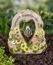 """Accent Garden Stone: Floral Design Center Chrystal """"Laughter Nourishes The Soul"""""""