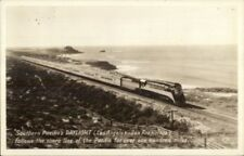 RR Train SP South Pacific DAYLIGHT LA to San Francisco Real Photo Postcard rpx
