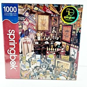 Springbok 1000 Piece Jigsaw Puzzle Collectors Closet Vintage Baseball