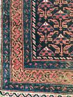 Wonderful antique all wool rug, pink and blue hand knotted middle eastern rug.