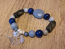 Archangel Michael Attunement Bracelet Angelite Aquamarine Lapis Lazuli Kyanite