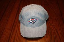 Mitchell & Ness NBA Oklahoma City Thunder OKC Gray Claspback Baseball Cap Hat