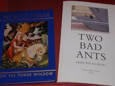 2 VINTAGE CHILDREN'S BOOKS TWO BAD ANTS  1988 MY BOOK HOUSE FROM THE TOWER WINDO