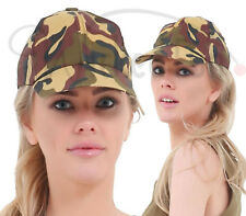 Unisex Army Militray Soldiers Camouflage Camo Hen Party Fancy Dress Hat Cap