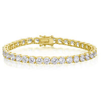 Round Cut 5mm CZ Tennis Bracelet - Gold Plated