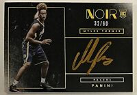 2015-16 Noir Myles Turner On-Card Auto RC Color 32/60 Gold Ink Pacers Longhorns
