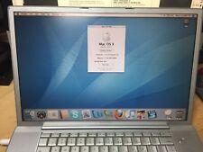 """Apple PowerBook G4 17"""" Laptop - M9110LL/A (September, 2003)"""