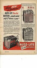 Original 1949 Auto - Lite Batteries Magazine Ad