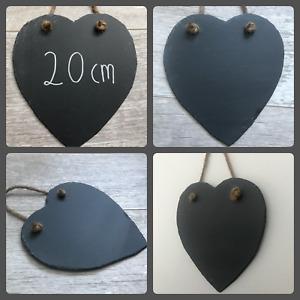 20cm handmade slate heart chalkboard blackboard shabby chic weddings bulk buy