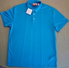 Puma Golf $70 Rickie Fowler PGA Tour Tech Polo Shirt Cresting Scuba Blue sz XL