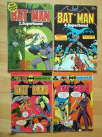 Batman Sonderheft Nr.28, 29, Superband Nr.2, 4 - Konvolut 4 Comics EHAPA