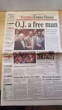 O.J. SIMPSON NOT GUILTY 1995 Georgia Times-Union Newspaper O.J. A FREE MAN