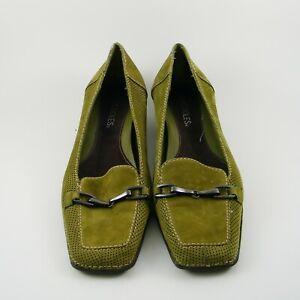 Aerosoles Women's Slip On Suede Leather Green Loafers Sz 8.5 ---#009