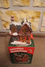 Beleuchtetes LED Weihnachtshaus Winterdorf Weihnachtsdorf Winterhaus Neu OVP