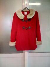 Manteau rouge fausse fourrure Cache Cache Taille 4
